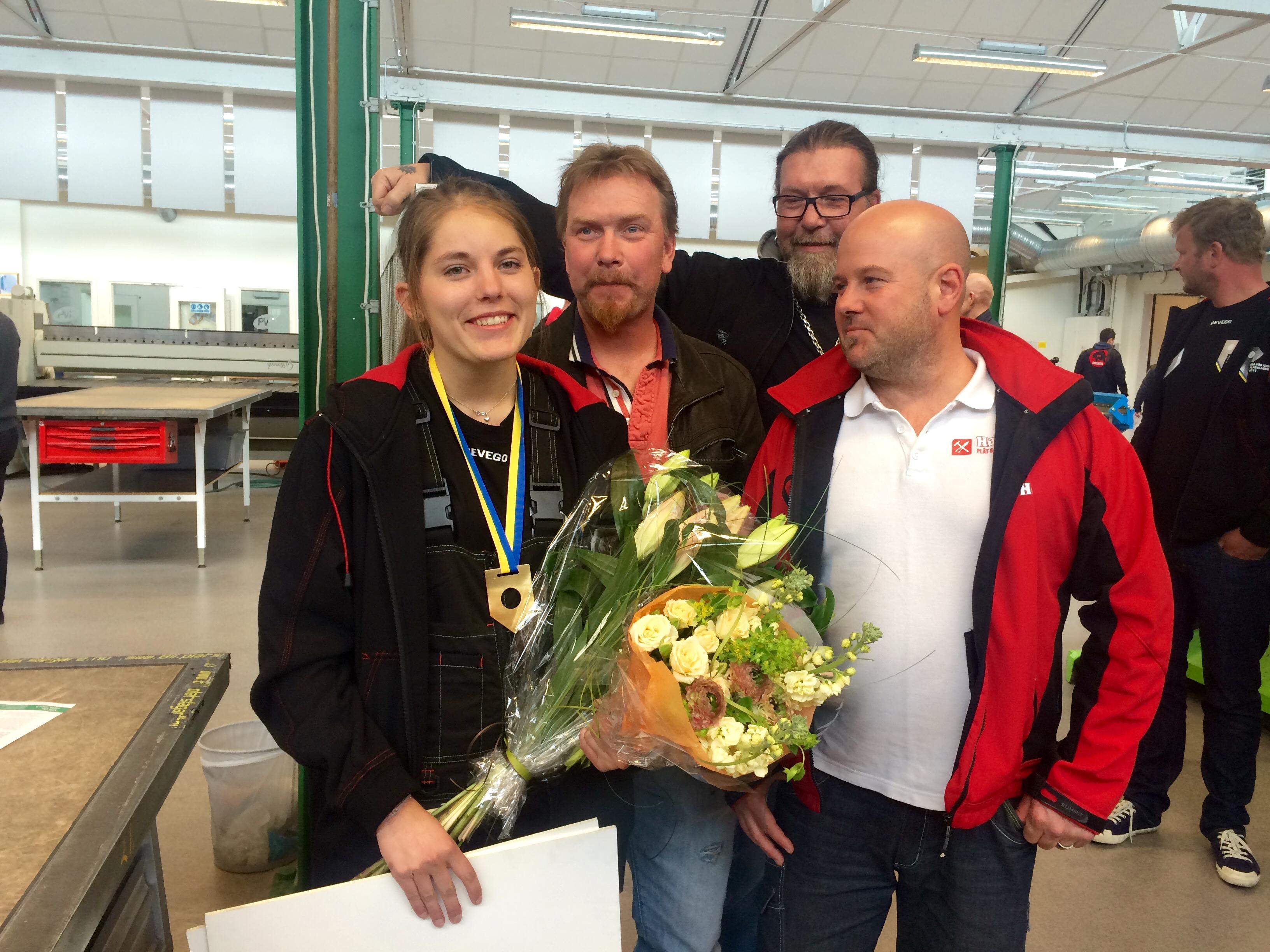 Sofia blev gratulerad av nära och kära.