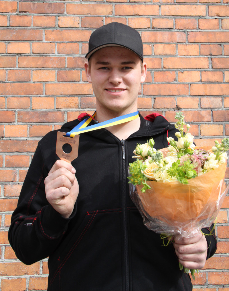 Tredje placerade Albin Ählman