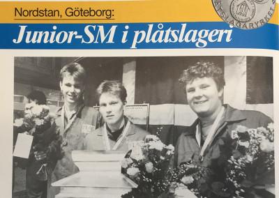 Tredje året som svenska mästerskapet för juniorer arrangeras. Året är 1989 och vinnaren heter Jonas Ullberg och kommer från Sundsvall.