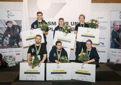 Finalisterna i SM för unga plåtslagare 2018