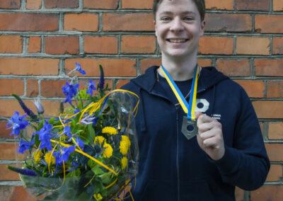 Anton Lindvall, deltagare i SM och en av vinnarna.