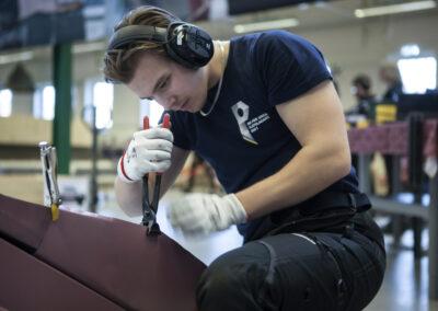 Felix Forsberg, deltagare SM unga plåtslagare 2021.