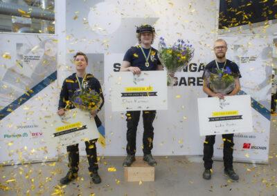 Guldregn och prisutdelning SM unga plåtslagare 2021.